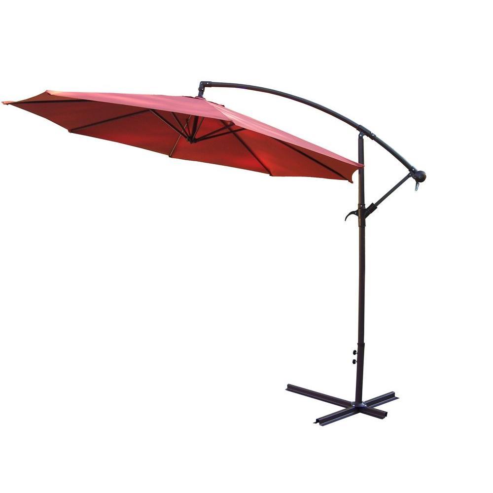 10 ft. Cantilever Patio Umbrella in Burnt Orange