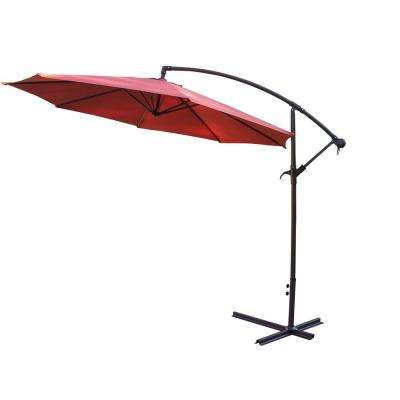 10 ft. Cantilever Patio Umbrella in Burnt Orange