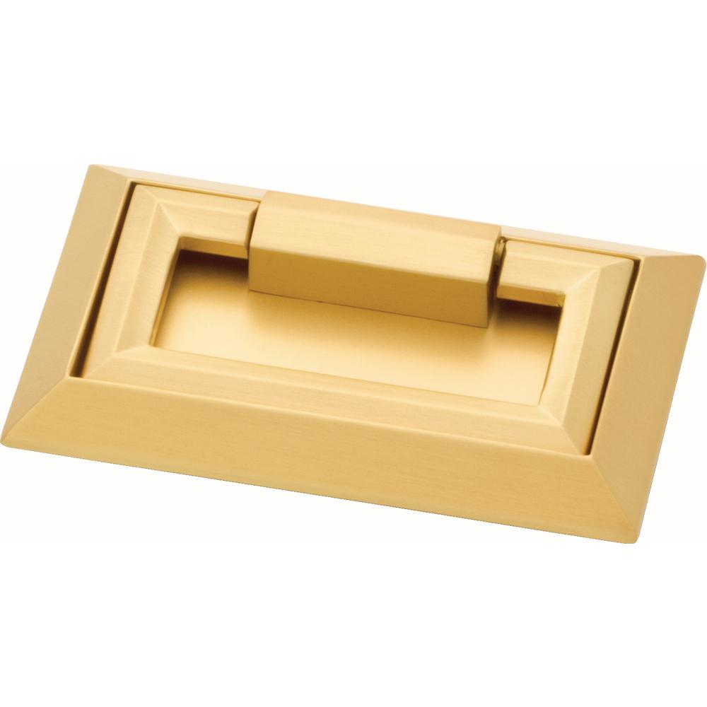 Liberty External Campaign 3 in. (76mm) Brushed Brass Drawer Pull