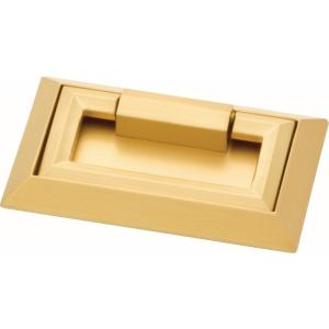 External Campaign 3 in. (76mm) Center-to-Center Brushed Brass Drawer Pull