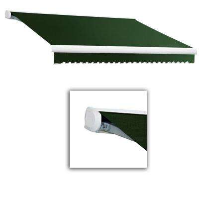 12 ft. Key West Full Cassette Right Motorized Retractable Awning (120 in. Projection) in Forest