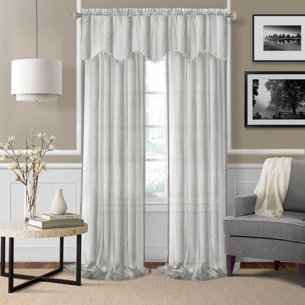 Elrene Enza Sheer Window Curtain Pair