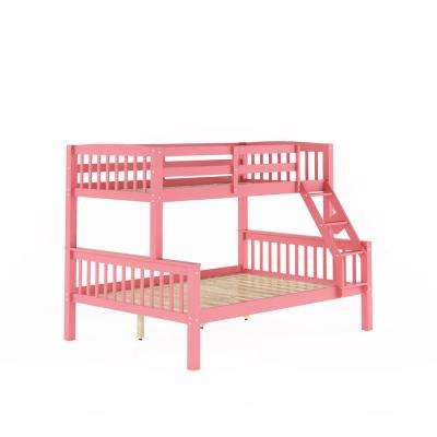Dakota Pink Twin and Single Over Full and Double Bunk Bed