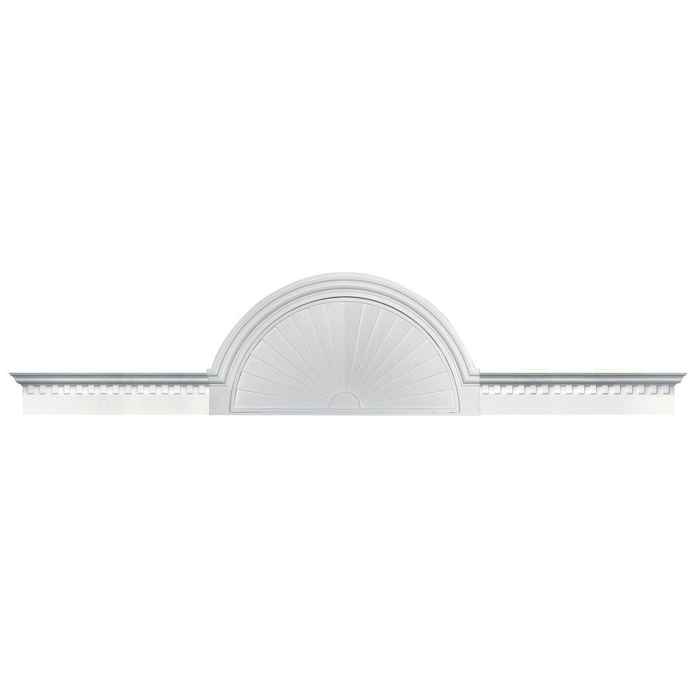 Builders Edge 70 in. - 106 in. Classic Dentil Panel Window and Door Accent in 117 Bright White-DISCONTINUED