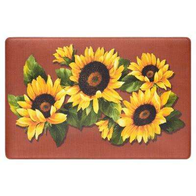 Black Eyed Susan 18 in. x 30 in. Anti-Fatigue Mat