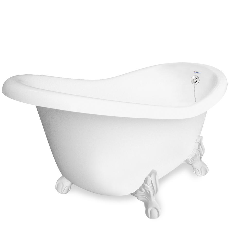 American Bath Factory 67 in. AcraStone Slipper Clawfoot Non ...