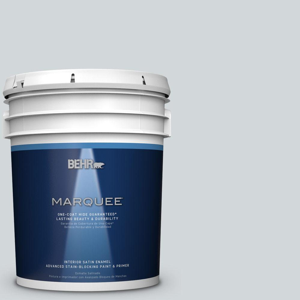 5 gal. #PPU26-12 Solemn Silence Satin Enamel Interior Paint
