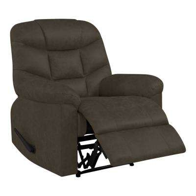 Wall Hugger Recliner in Brown Distressed Faux Leather