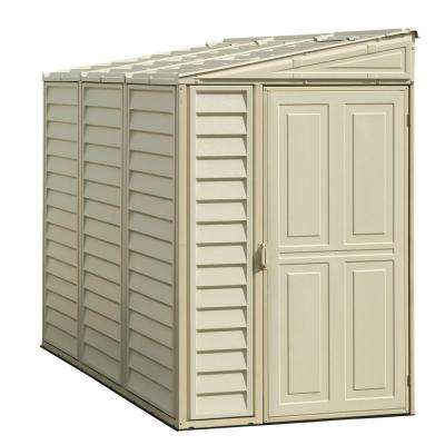 Sidemate 4 ft. x 8 ft. Vinyl Shed with Foundation