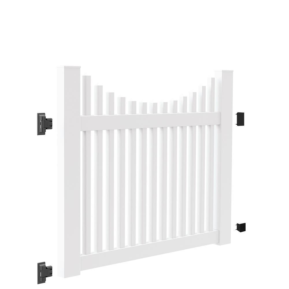 Veranda 4 Ft W X 4 Ft H White Vinyl Lafayette Fence Gate
