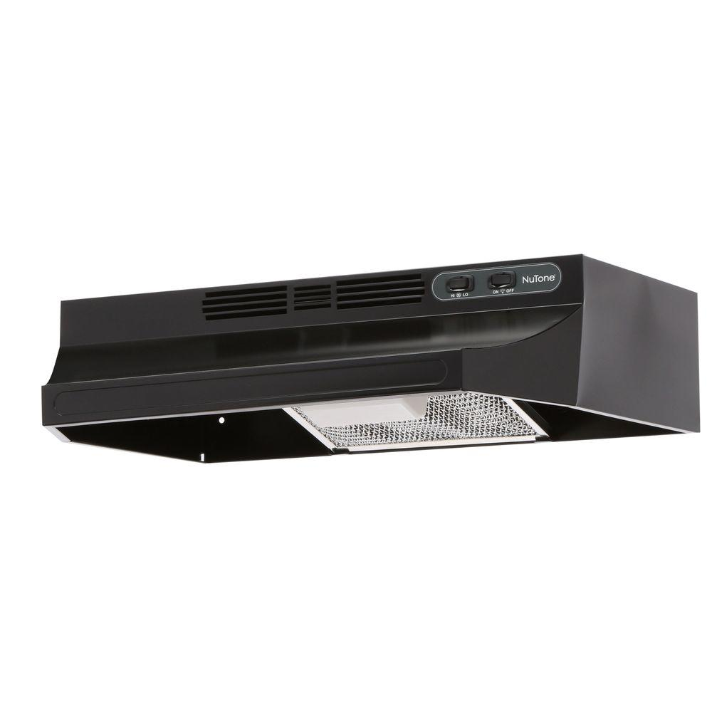 nutone rl6200 24 in non vented range hood in black rl6224bl the home depot. Black Bedroom Furniture Sets. Home Design Ideas