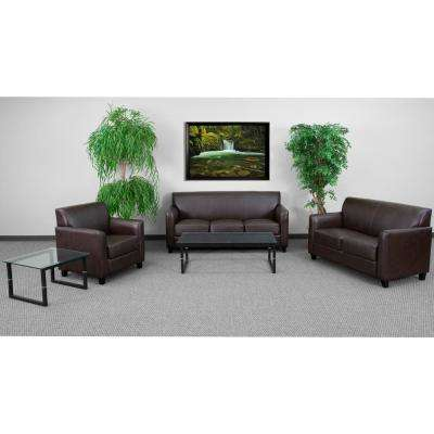 3-Piece Brown Living Room Sets