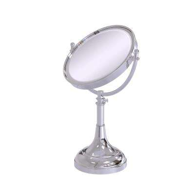 23 in. x 8 in. Vanity Top Make-Up Mirror 3x Magnification in Polished Chrome