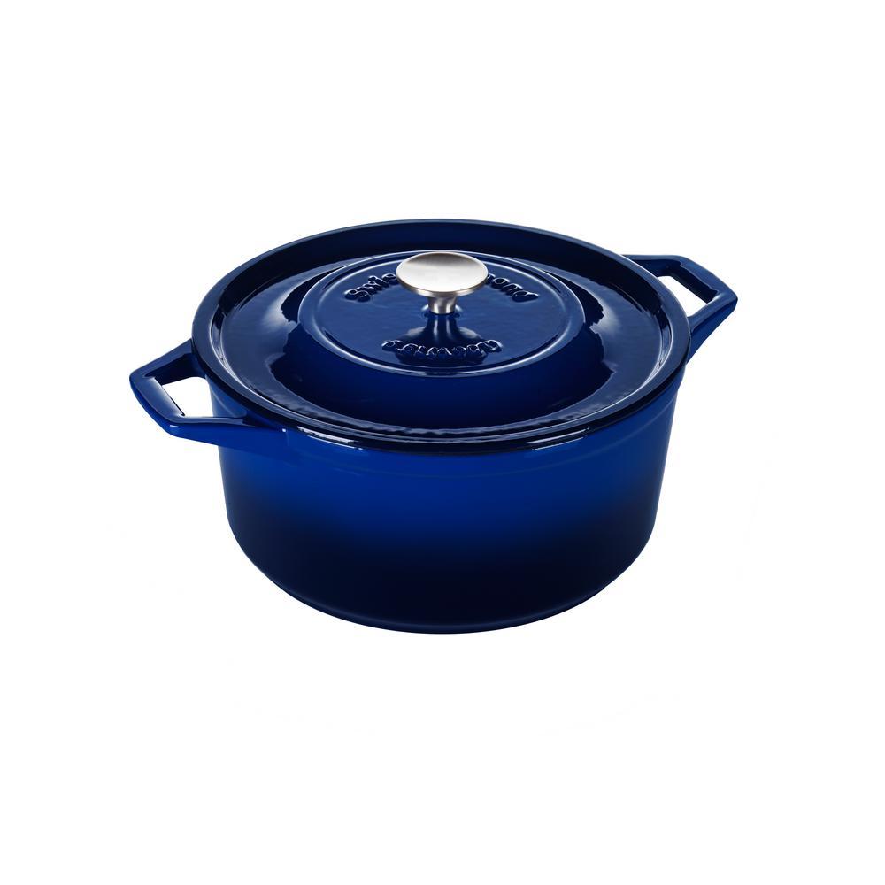 6.9 Qt. Saphir Bleu Round Casserole