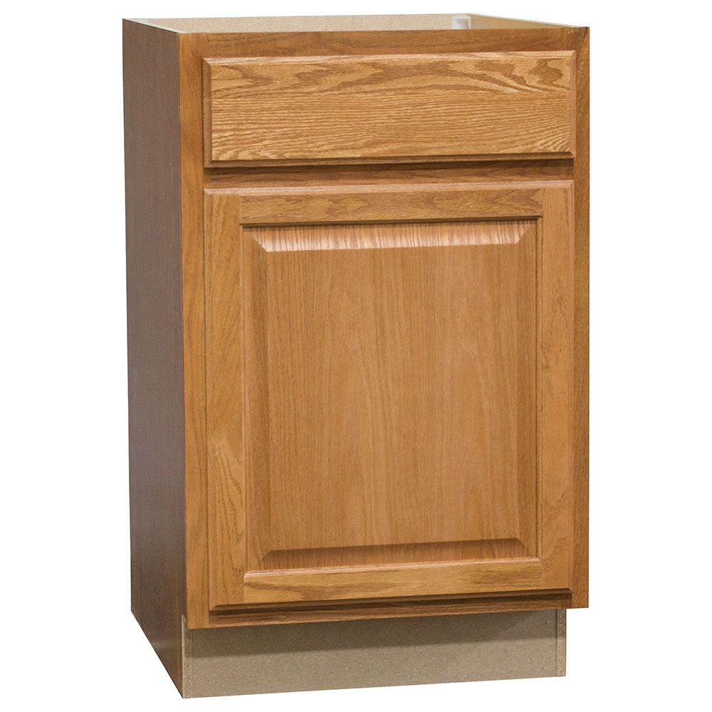 Medium Oak Kitchen: Hampton Bay Hampton Assembled 21 In. X 34.5 In. X 24 In