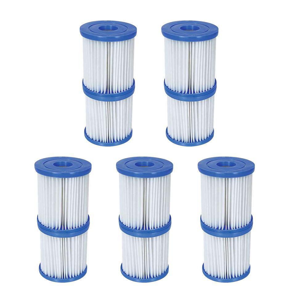 3.3 in. Dia 330 GPH Type V/K Pool Replacement Filter Cartridge (5-Pack)