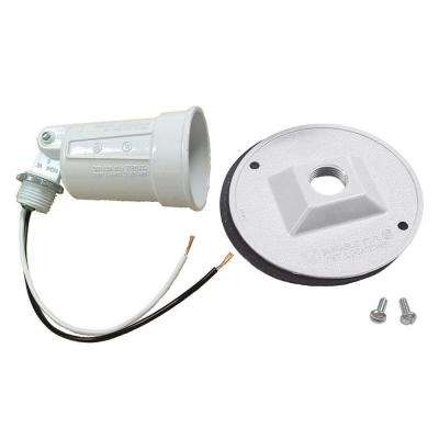 4 in. Round Weatherproof Par Lampholder and Cover Combination