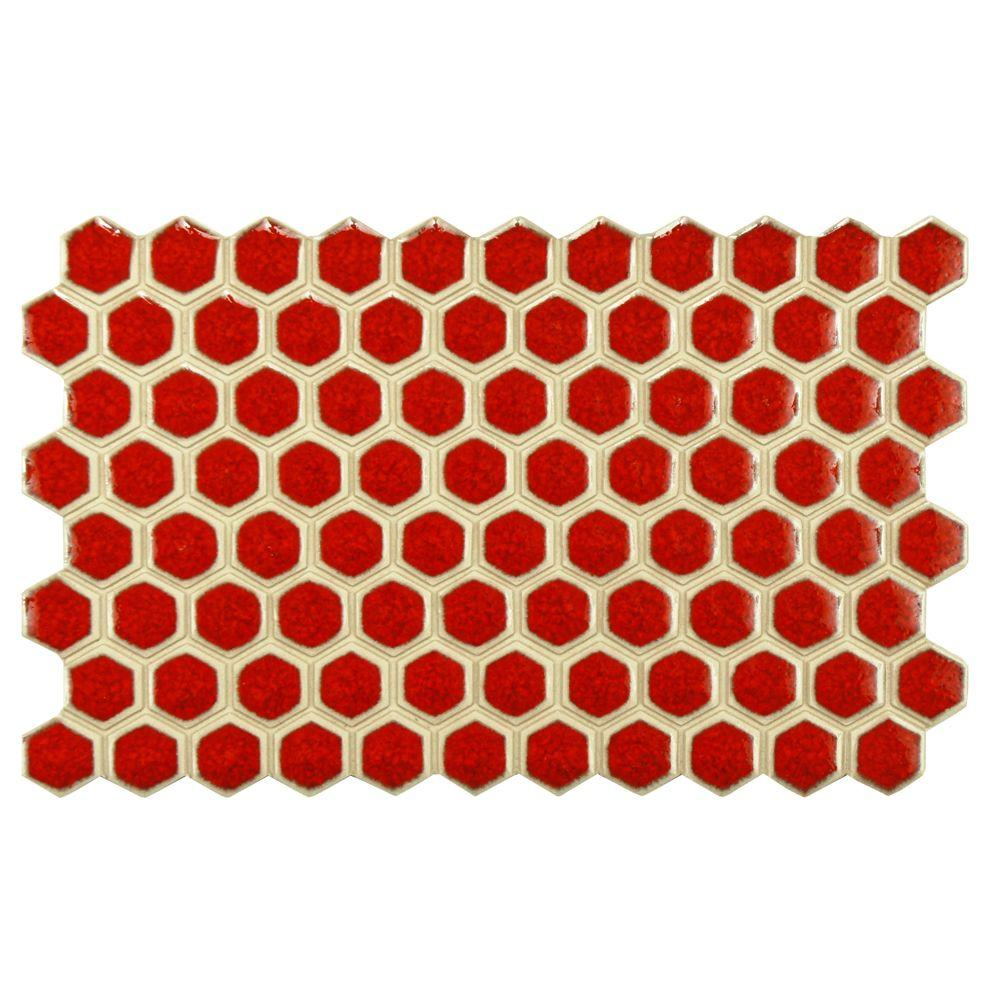 Merola Tile Casella Scarlato 5-1/2 in. x 9 in. Porcelain Floor and Wall Tile