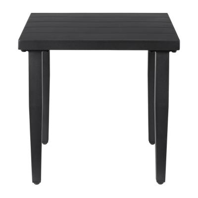Braxton Park Black Square Metal Outdoor Side Table