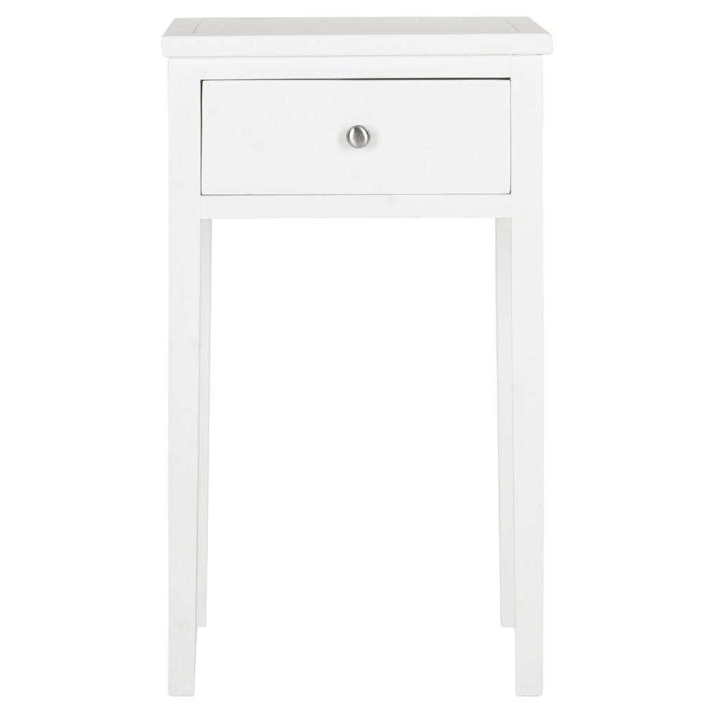 Abel White Storage End Table