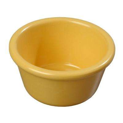 4 oz. Melamine Smooth Sided Ramekin in Honey Yellow (Case of 48)