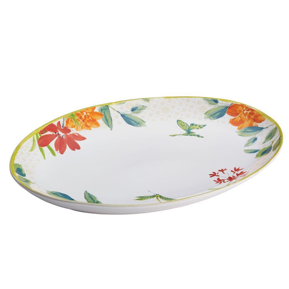BonJour Dinnerware Al Fresco Stoneware 9-3/4 in. x 13 in. Oval Platter