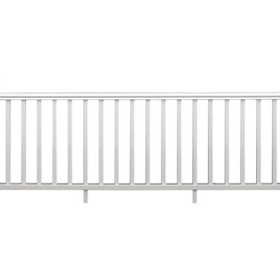 Traditional 8 ft. x 36 in. White PolyComposite Rail Kit without Brackets