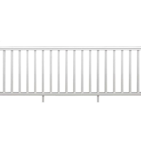 Veranda Traditional 8 Ft X 36 In White Polycomposite Rail Kit Without Brackets 73003989 The Home Depot