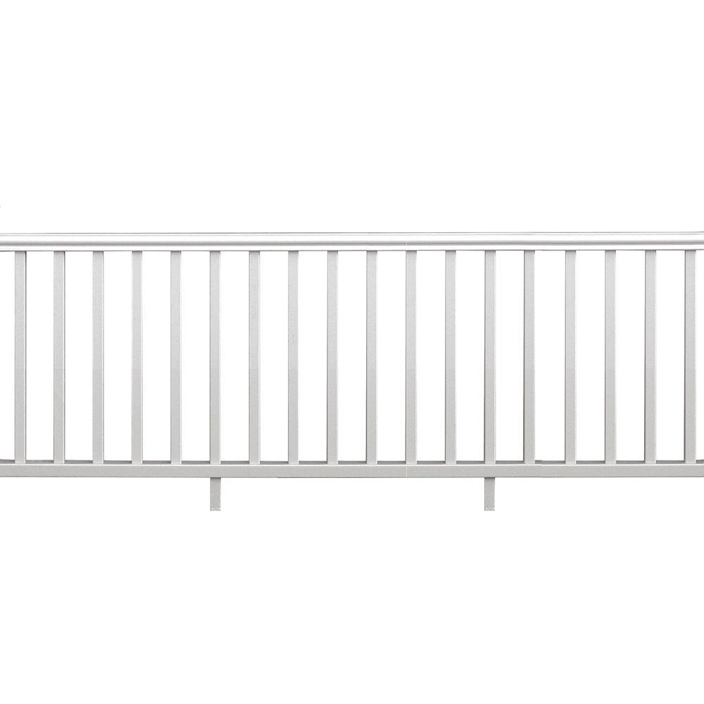 8 ft. x 36 in. White Vinyl Traditional Rail Kit