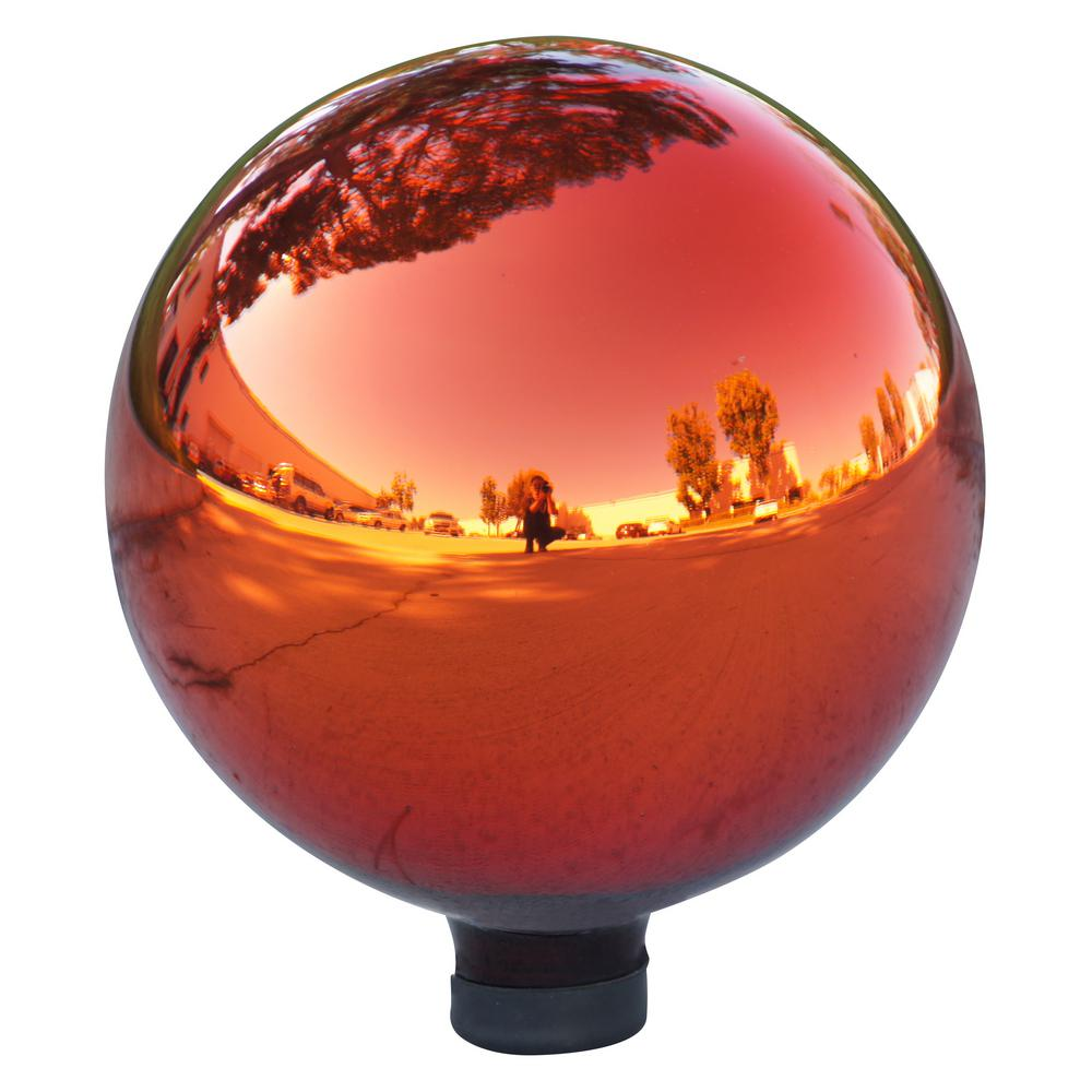 Electric Red Glass Gazing Globe
