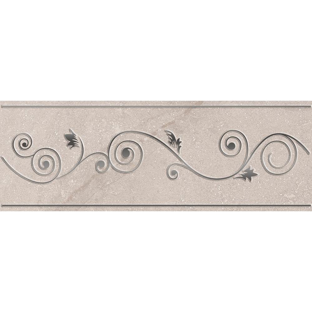Sonoma L-150 Gray 3 in. x 8 in. Ceramic Listello Wall Tile