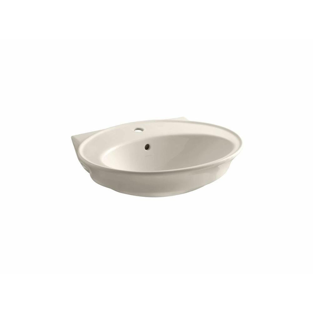 KOHLER Serif 5 in. Pedestal Sink Basin in Almond-DISCONTINUED
