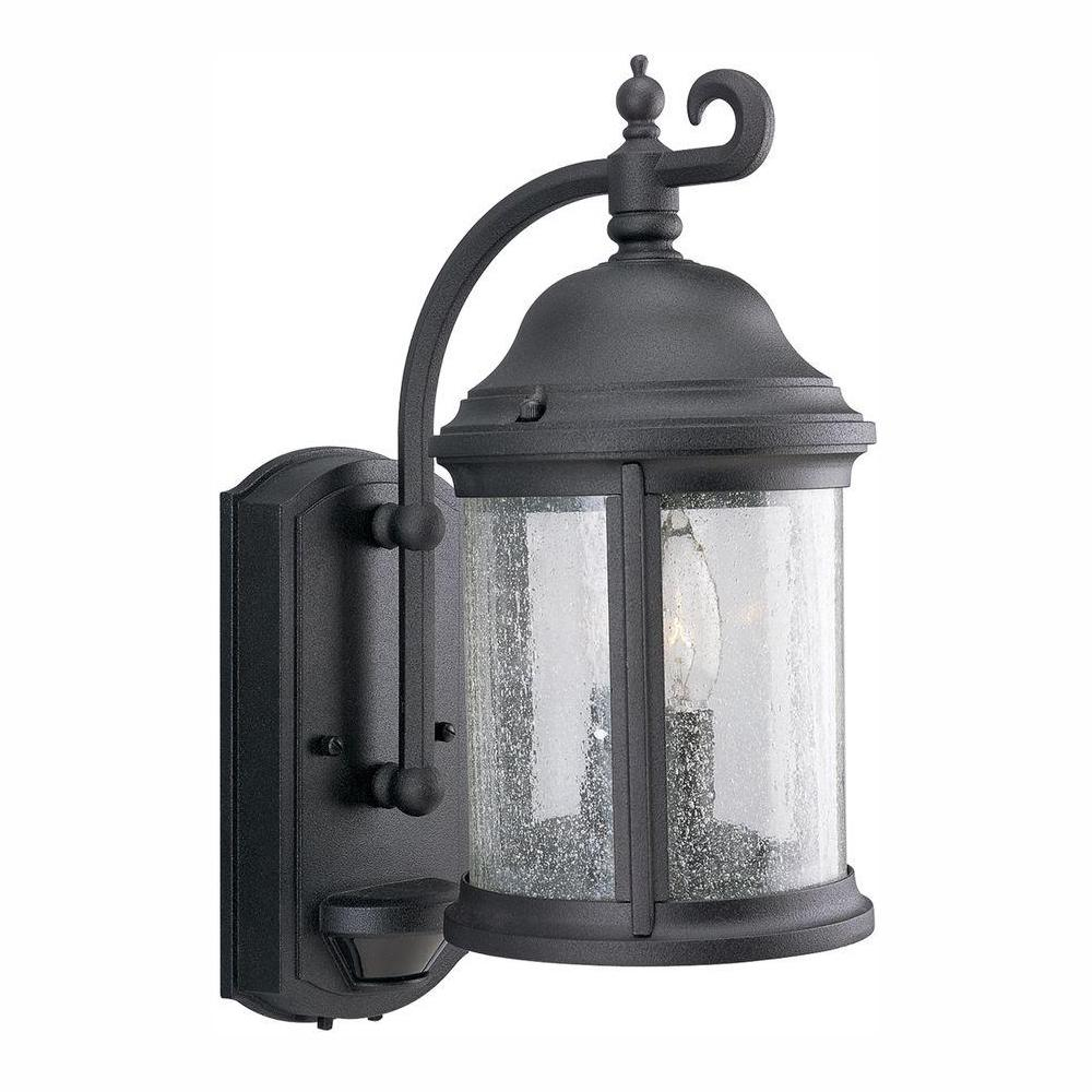 Progress Lighting Ashmore Collection 2-Light Textured Black 15 in. Outdoor Wall Lantern Sconce