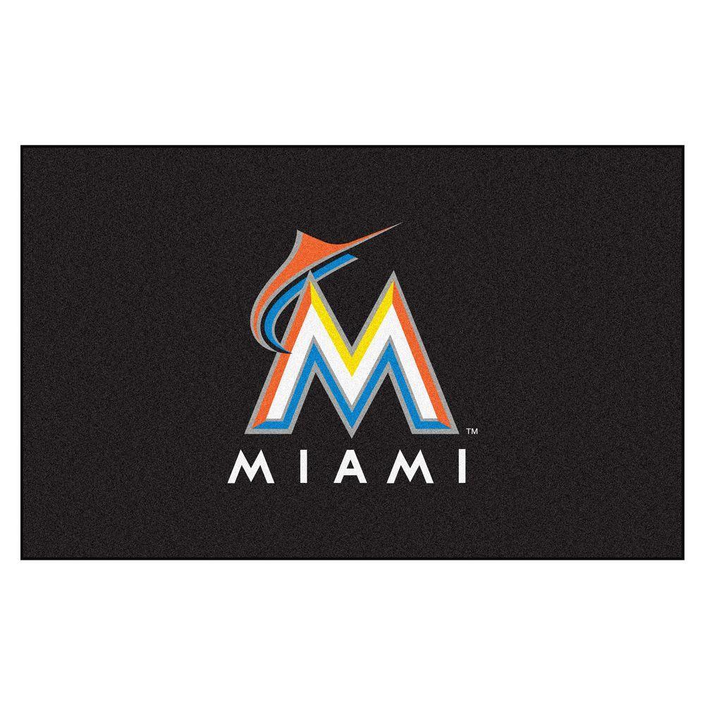 Miami Marlins 5 ft. x 8 ft. Ulti-Mat