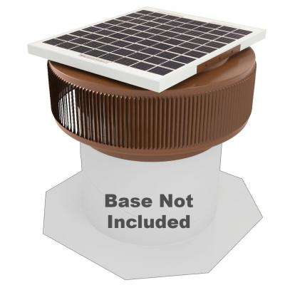 740 CFM Brown Powder Coated 10-Watt Solar Powered 12 in. Dia Retrofit Attic Roof Fan