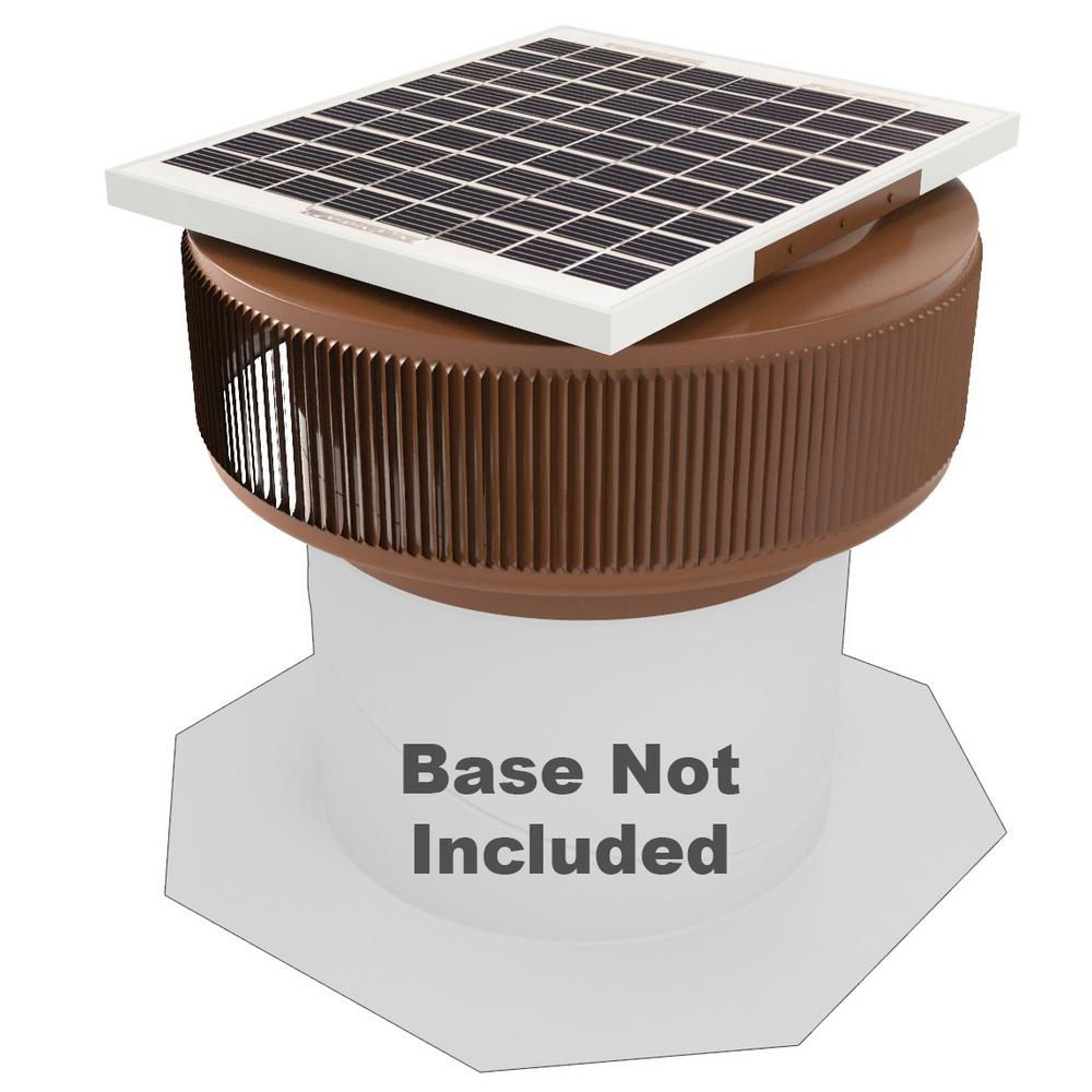 740 CFM Brown Powder Coated 10-Watt Solar Powered 12 in. Dia