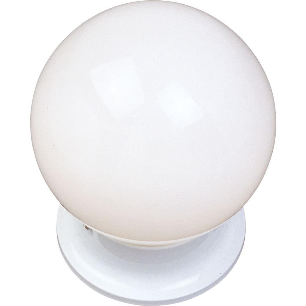 Maxim Lighting Essentials 1-Light White Flush Mount