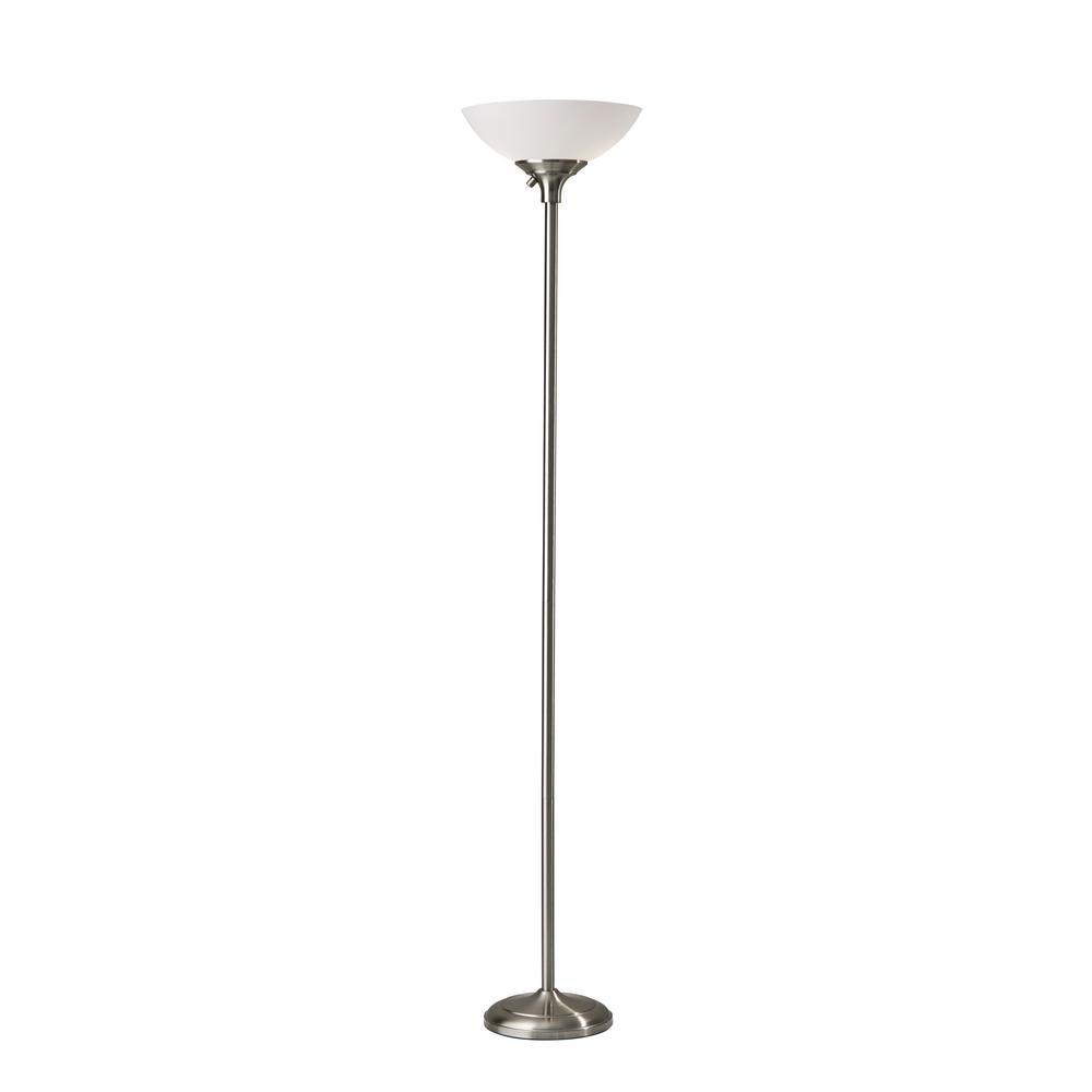 Steel Torchiere Floor Lamp