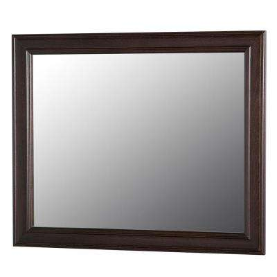 Annakin 31 in. W x 26 in. H Wall Mirror in Chocolate