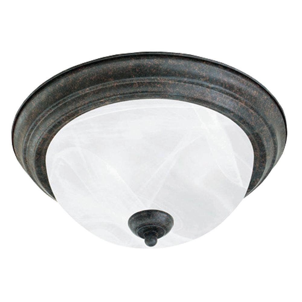 2-Light Sable Bronze Ceiling Flush Mount