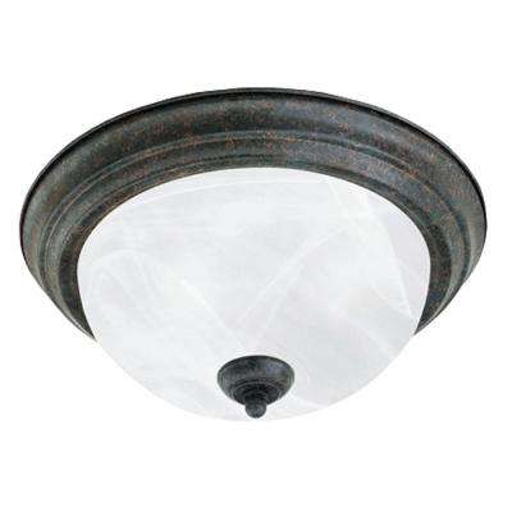 2-Light Sable Bronze Ceiling Flushmount