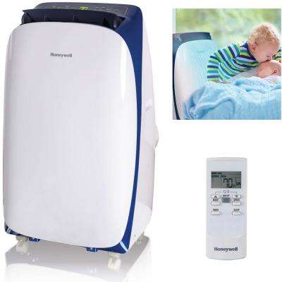 HL Series 12,000 BTU, 115-Volt Portable Air Conditioner with Dehumidifier and Remote Control in White and Blue