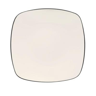 Colorwave 10.75 in. Graphite Square Dinner Plate