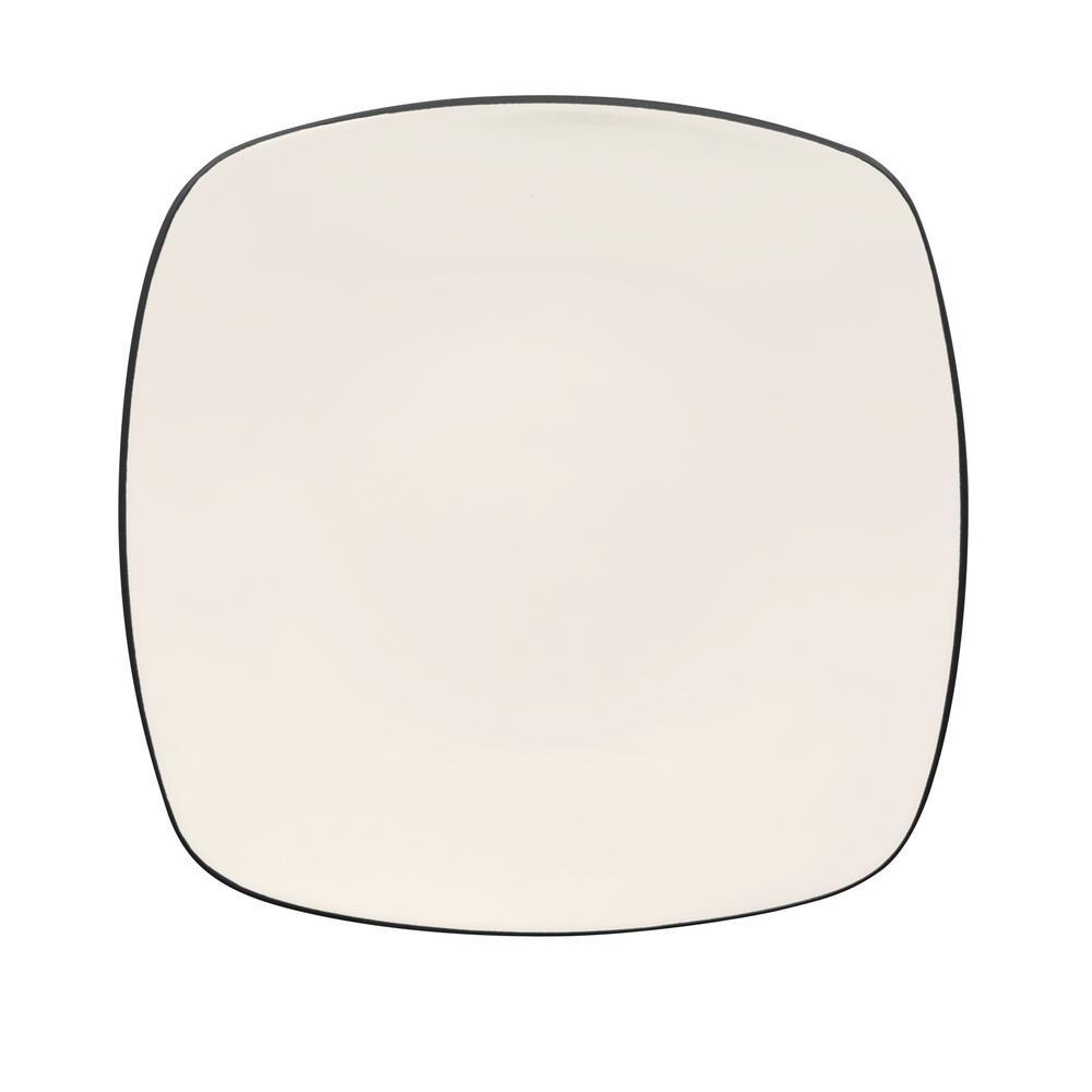 Noritake Colorwave 10.75 in. Graphite Square Dinner Plate