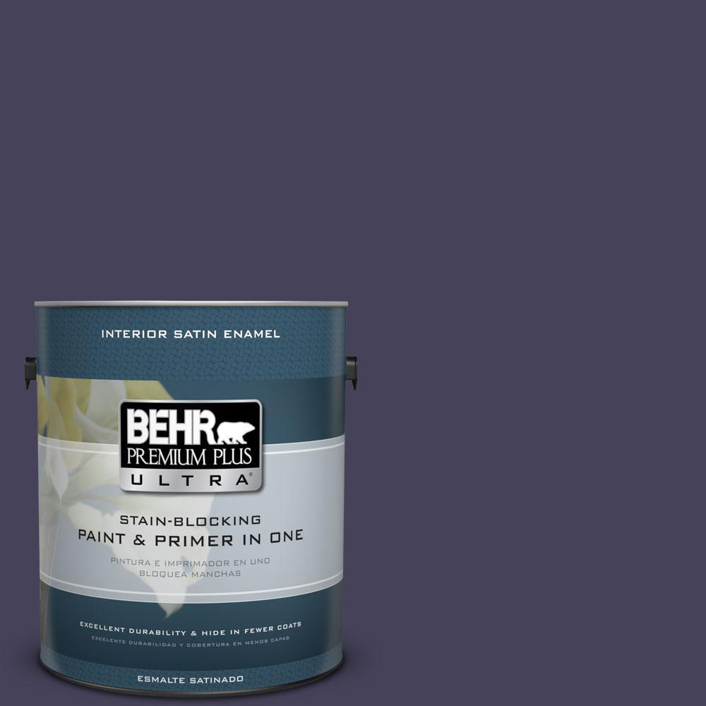 BEHR Premium Plus Ultra 1-Gal. #PPU16-20 Renaissance Satin Enamel Interior Paint