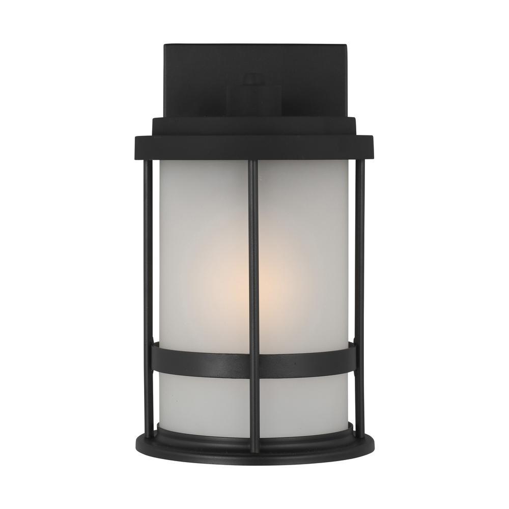 Wilburn 1-Light Black Outdoor Wall Lantern