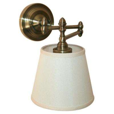 Heritage Brass Indoor/Outdoor LED Swing Arm Reading Light with Remote