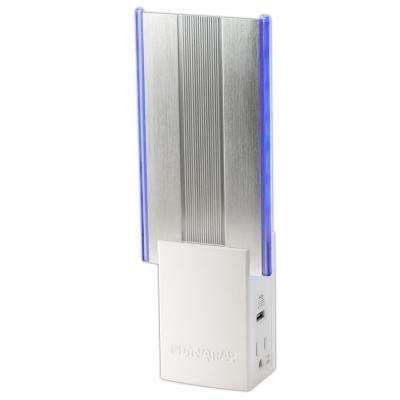 FlyLight AtraktaGlo White Fly Trap with 2 AC Outlets and 2 USB Outlets