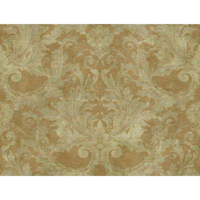 Gold Leaf Aida Damask Paper Strippable Roll Wallpaper (Covers 60.75 sq. ft.)