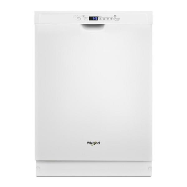 24 in. White Front Control Built-In Tall Tub Dishwasher with a Third Level Rack, 50 dBA